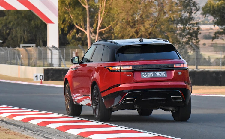 The Velar was less suited to the track than the Jaguar F-Pace, but the track is not really the future home for either