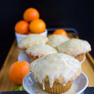 Ginger Clementine Lemon Poppy Seed Muffins.