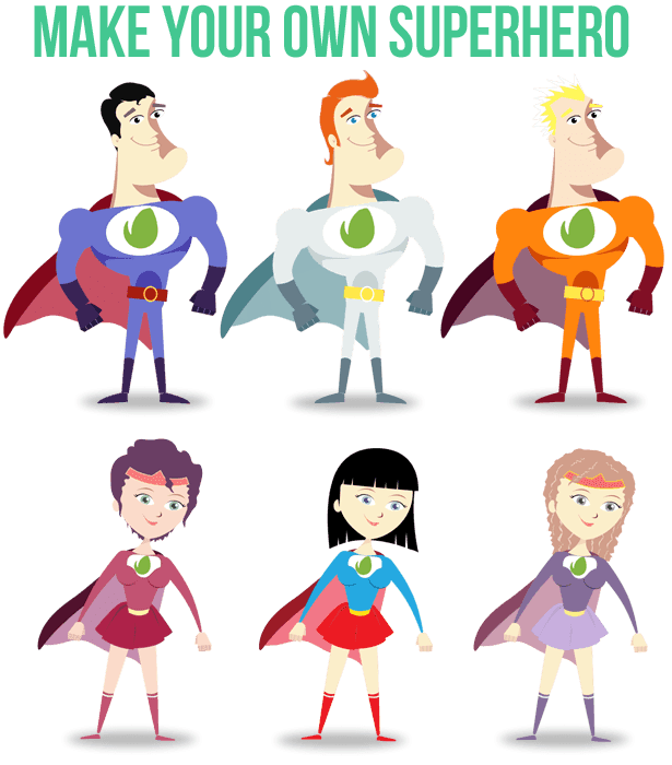 Superhero Change Colors
