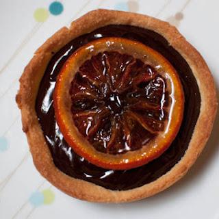 Blood Orange Chocolate Ganache Tart