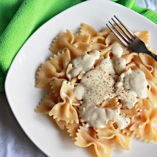 Farfalle Pasta With Alfredo Sauce Recipes.