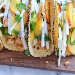Jicama Peach Salsa w. Tuna Tacos