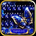 Blue Fancy Butterfly Keyboard Theme icon