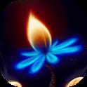 Bright flower live wallpaper icon