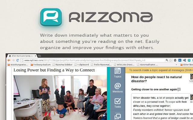 Rizzoma Research Sidebar