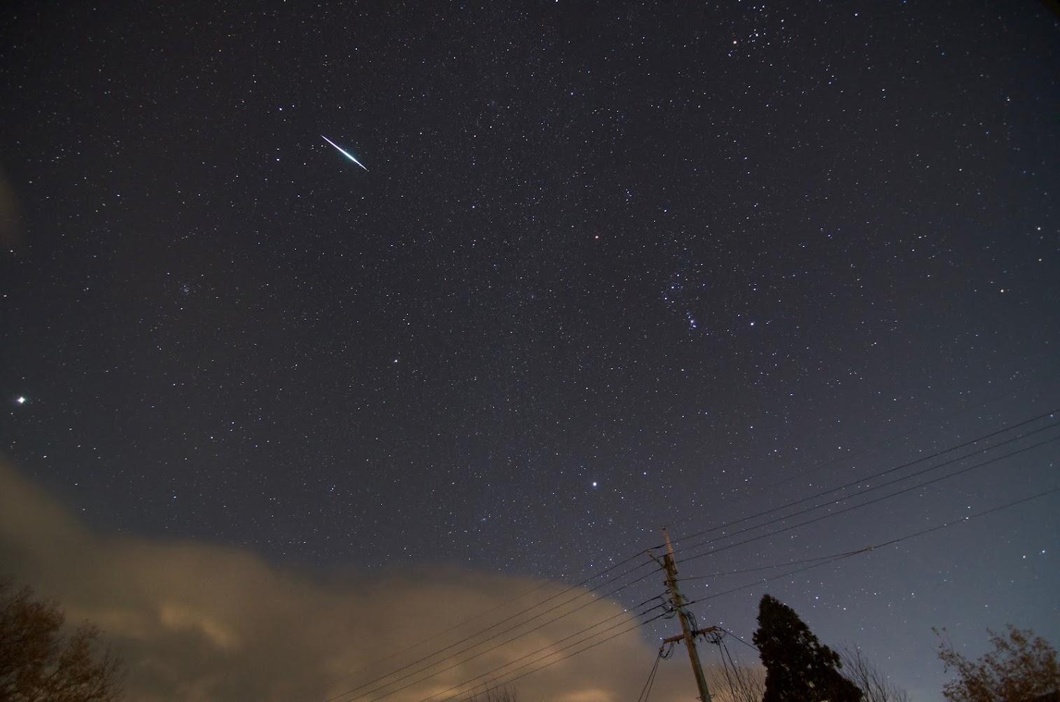 A Bright Geminid Meteor