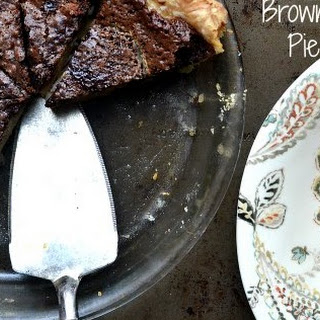 Coconut Banana Brownie Pie