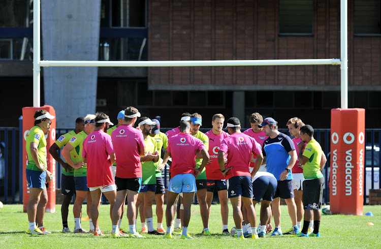 The Vodacom Bulls players during a training session.