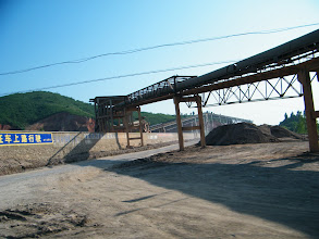 Photo: the transporting line of the cement fatory, near the town Tianzhen.
