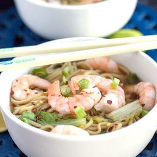 Quick Chinese Shrimp Noodle Soup.