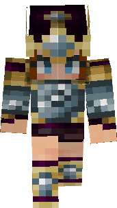 minecraft warrior girl skin