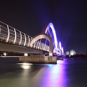 United at last by Joachim Persson - Buildings & Architecture Bridges & Suspended Structures ( lights, water, reflections, night, bridge )