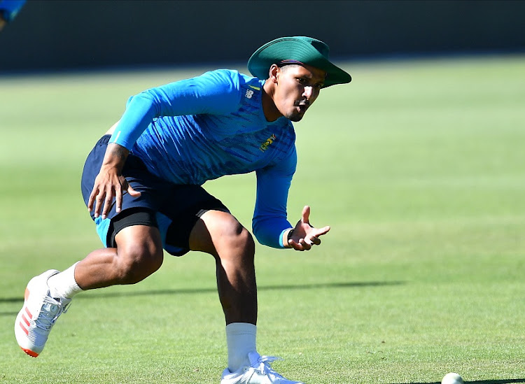 Beuran Hendricks during a training session at Eurolux Boland Park on December 3 2020 in Paarl.