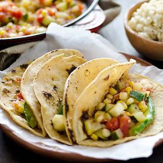 Mexican Zucchini Corn Tacos