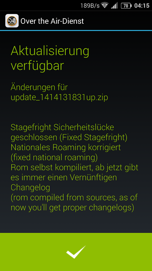 Jiayu OTA Updater- screenshot