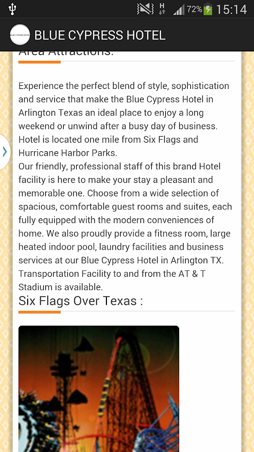 BLUE CYPRESS HOTEL - ARLINGTON- screenshot