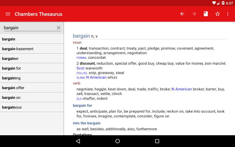 Chambers Thesaurus Screenshot 8