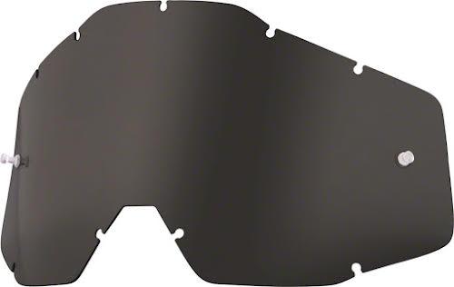 100% Racecraft/Accuri/Strata Replacement Lens, Dark Smoke Anti-Fog Lens