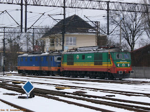 Photo: 181 116-5 (DB Schenker Rail Polska, dzierżawa od CD Cargo) i ET21-PTK008 (PTK) {Toruń Wschodni; 2013-04-03}