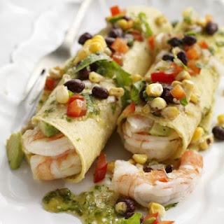 Marinated Shrimp Tacos with Corn and Salsa