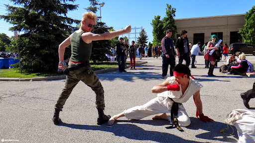 street fighter guile vs ryu - both missed in Toronto, Ontario, Canada