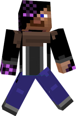a steve whos infected with an dangerous enderman virus due to his wound in the back of his head and that he eats many ender berrys he became an number 1 target for the virus but luckly he had a good immun system what caused him to stop the spreading in his body in the right moment what saved his causonness and mind but it also gave him minor strength and pretty usefull teleportaiton abilitys