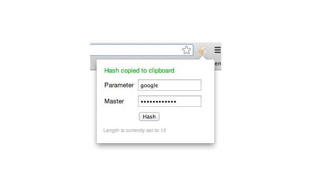 Lean Password Hasher