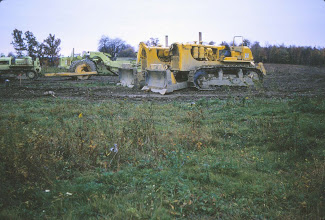 Photo: Construction equipment used to build Lake Roaming Rock