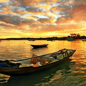 Floating Gold by Alit  Apriyana - Transportation Boats