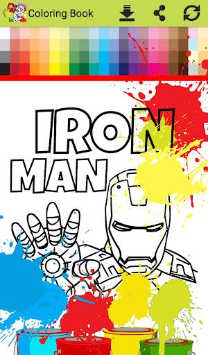 Superhero Infinity Coloring book for kids 1.0 screenshots 3