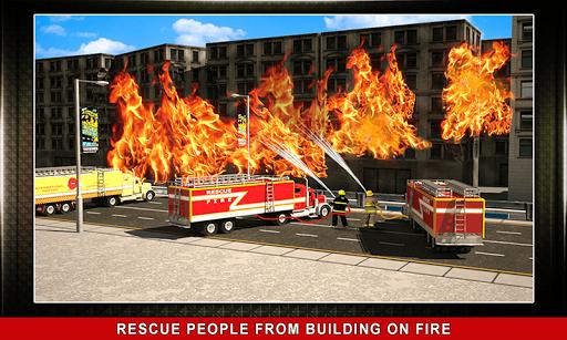 911 Rescue Fire Truck 3D Sim  screenshots 3