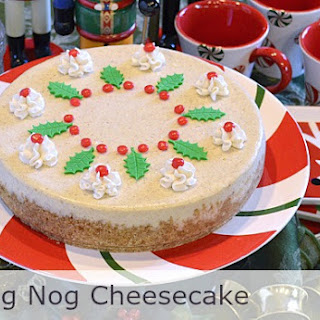 Extraordinary Egg Nog Cheesecake