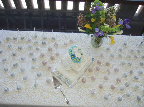 Cake Pops Make Any Table An Elegant Event~  These Were For Our Daughter's Bridal Shower.