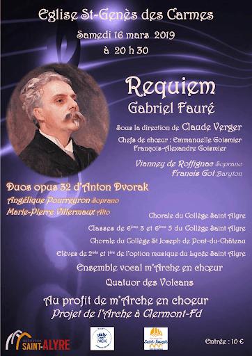 Réquiem de Fauré au bénéfice du Projet de L'Arche à Clermont-Ferrand