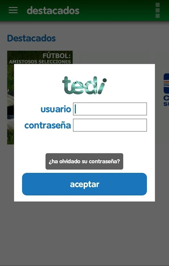 tedi TV Fútbol: captura de pantalla