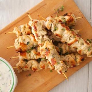Chicken Souvlaki Kebabs with Tzatziki Sauce