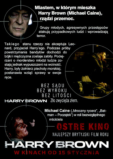 Tył ulotki filmu 'Harry Brown'