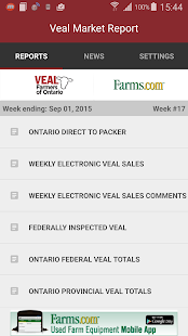 Veal Market Report- screenshot thumbnail