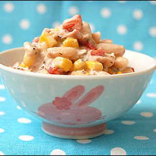 Cannellini Bean Tuna Salad with Sweet Corn and Caribbean Herbs.