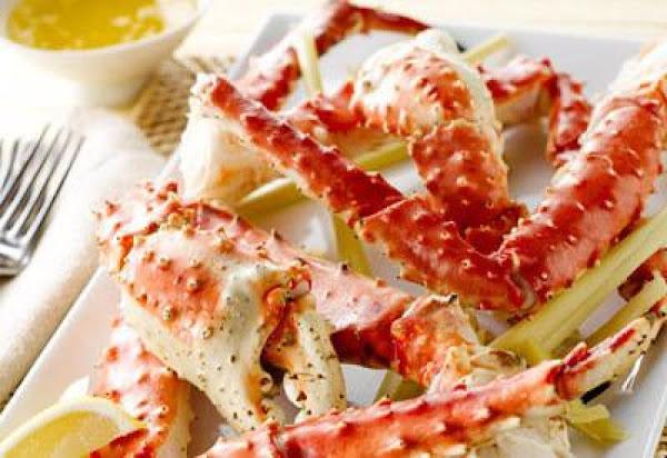 Simmered Lemongrass Alaska Crab Legs Recipe