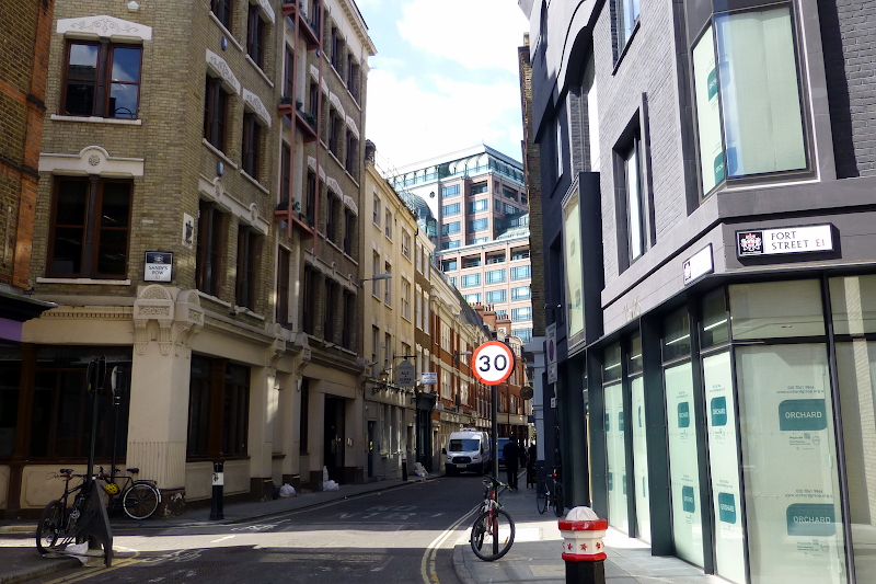 Exterior of Artillery Lane Apartments Bishopsgate