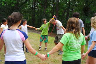 Photo: In addition to our High and Low Ropes Courses, Camp Toccoa also offers teambuilding programs which focus on group communication, trust and problem solving.  Great for groups that are just getting to know each other or those who have know each other for years.