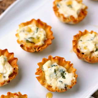Spring Herb Tartlets with Honey and Goat Cheese Recipe