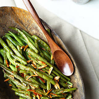 Broiled Green Beans Almondine.