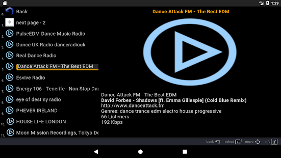 IRP (Internet Radio Player) Screenshot