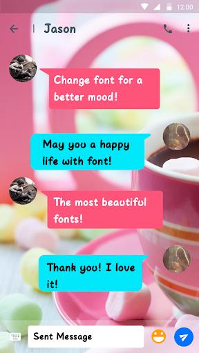 Marshmallow Font for FlipFont , Cool Fonts Text screenshots 2