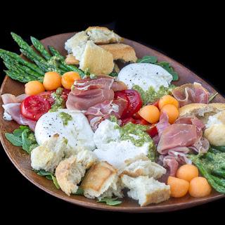 Prosciutto Burrata Asparagus Salad