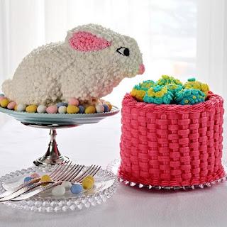Orange Cake Bunny Rabbit Fills an Egg Basket Chocolate Cake