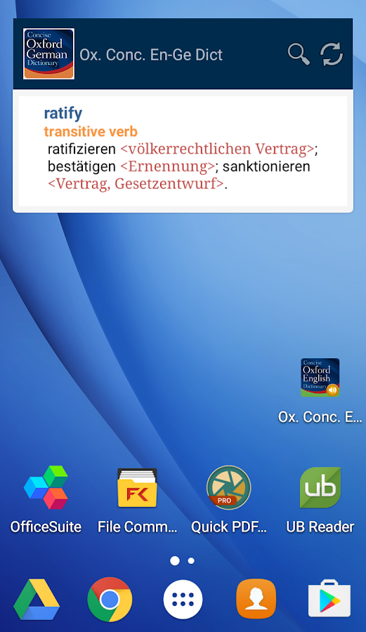 Concise Oxford German Dict- screenshot