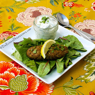 Chelo Kebabs & Cucumber Yogurt Salad